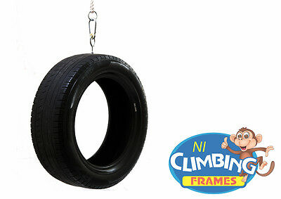 Complete Vertical Tyre Swing & Ropes: Climbing Frames, Childrens, For Swing Set  • 29.45£