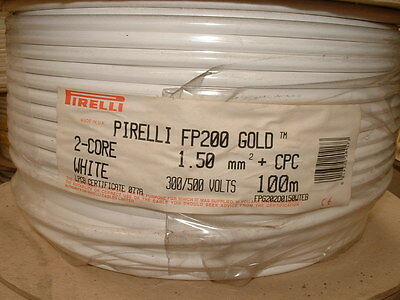 Pirelli FP200 Gold Cable 2 Core 1.5mm + Cpc. 100 Metre Drum.*OLD PHASE COLOURS* • 82.50£
