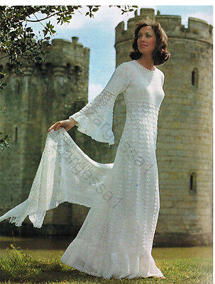 Ladies Gorgeous  Wedding Dress Crochet Pattern- Fits 32-37 Inch Chest- Vintage • 1.99£
