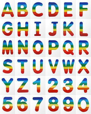 £1.99 • Buy #078E Letter Alphabet Number Sew / Iron On Motif Patch Applique Badge 1.65  Tall
