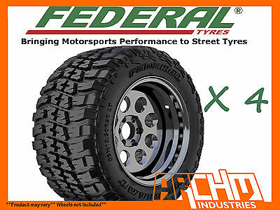 AU850 • Buy (4x) 265 / 75 / 16 Federal Couragia 4wd Mud Tyres M/t Awesome Offroad Chunky!!!