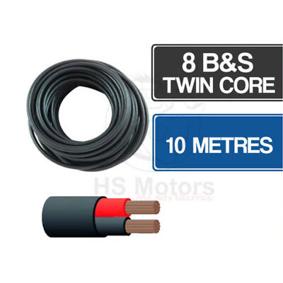 AU67 • Buy 8 B&S Twin Core Cable 10 Metre Length