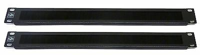 2X 1U 19  Brush Cable Tidy Panel Bar For Data Network Lan Rack Mount Cabinet • 15.98£