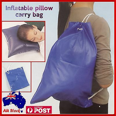 AU4.99 • Buy Inflatable Air Pillow Carry Bag Car Travel Camping Support Relax Cushion