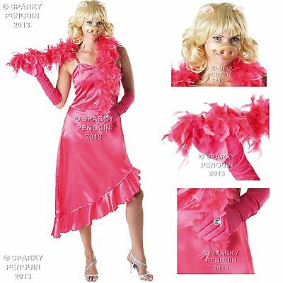 Miss Piggy Ladies Fancy Dress Costume Small S8-10 Womens The Muppets Outfit Show • 29.99£