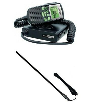 AU288.88 • Buy Uniden Uh5060nb Remote Uhf Radio 80 Ch + Cba2t1 4wd Antenna New Cb 80ch Channel
