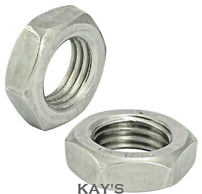 Fine Pitch Thread Hexagon Half / Thin / Lock Nuts Metric A2 Stainless Steel • 2.59£
