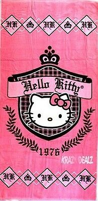 Official Hello Kitty Prep 1976 Cotton Beach Towel With Carry Case Gift • 9.99£