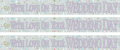 With Love On Your Wedding Day Foil Banners (ex) • 1.50£