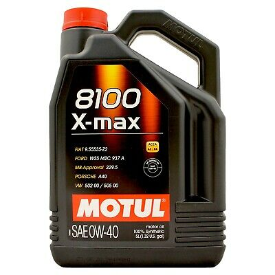 Motul 8100 X-Max 0W-40 Fully Synthetic Engine Motor Oil 0W40 5 Litres 5L • 49.95£