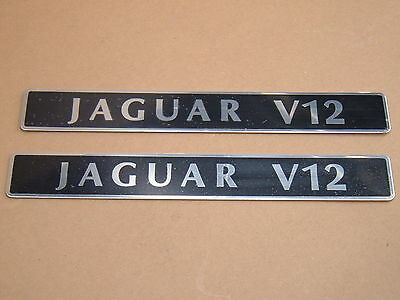 AU194.66 • Buy Jaguar XJ12 XJS V12 Engine Badges 6.0 Liter 5.3 Liter EBC2843 NEW OEM