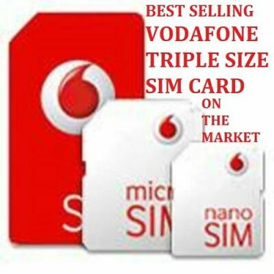 £0.99 • Buy VODAFONE PAY AS YOU GO  3g + 4g MICRO & STANDARD SIM CARD FOR IPHONE 4s 4 3gs 3g