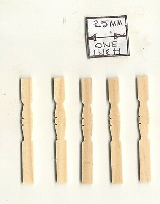$3.25 • Buy Spindles Flat Balusters 7207 Dollhouse Wooden Miniature 12pc 1/12 Scale