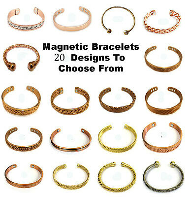 Mens & Womens Copper Magnetic Health Bracelet.Pain Arthritis Relief & Well Being • 4.99£