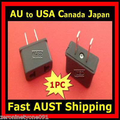 AU3.49 • Buy AU AUST To USA CANADA JAPAN AC Power Travel Plug Adapter Converter 1pc (Mini)
