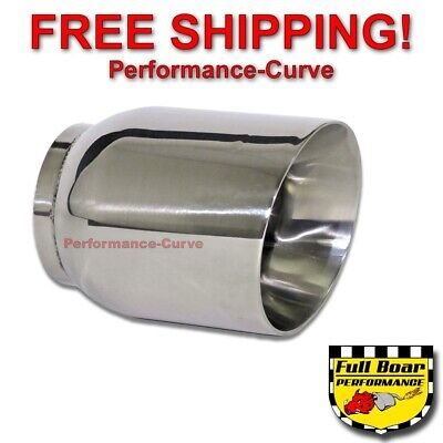 $ CDN33.50 • Buy Stainless Steel Exhaust Tip Double Wall Angle 3  Inlet - 4  Outlet - 5  Long