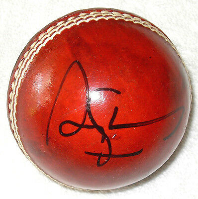AU85 • Buy ANDREW STRAUSS SIGNED LEATHER Cricket Ball PROOF COA Clarke Waugh Ponting Warne