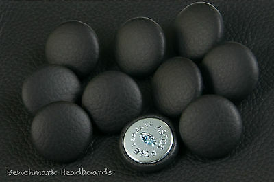 £5.99 • Buy 10 Upholstery Buttons Black Real Scottish Leather 25mm