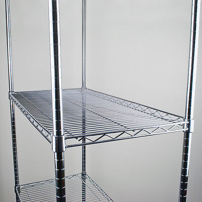 4 Chrome Wire Shelves Only Storage Racking Heavy Duty Commercial Shelves Rack • 89£