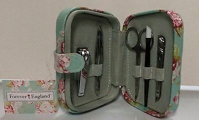 Forever England Manicure Set,5 Piece Set In A Lovely Padded Box,great Gift Idea! • 7.49£