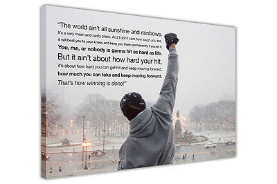 Rocky Balboa Quote Large Canvas Wall Art Prints / Picture / Print Boxing Movie  • 9.99£