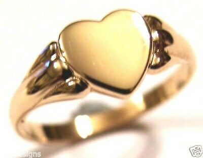 AU179 • Buy Kaedesigns, New Genuine New Solid 9ct Rose Gold Heart Signet Ring Size S
