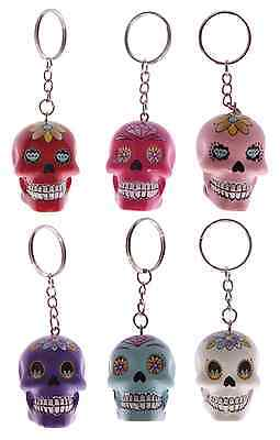 £4.95 • Buy  Candy Skull Resin Keyring Mexican Sugar Day Of The Dead Keychain Ornament Gift