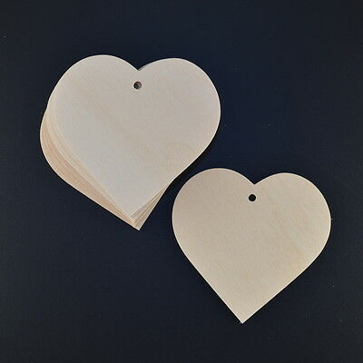 £1.95 • Buy  WOODEN LOVE HEARTS 65 Mm CRAFT SHAPES 5 OR 10 VALENTINES/BUNTINGS/WEDDING TAGS