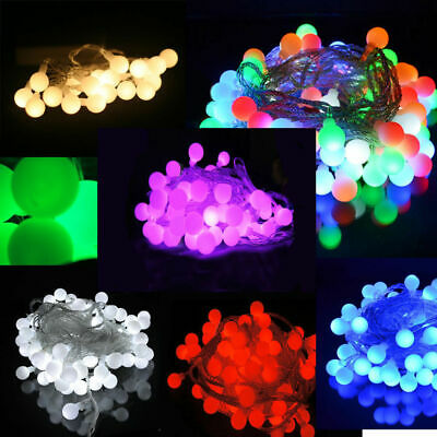 Battery Operated Berry Ball Shaped LED Fairy Lights 20, 40 LEDs: Static ON+Flash • 6.99£