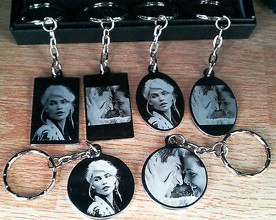 Personalised Photo/Text Engraved Stainless Steel Keyring Pendant  Birthday Gift  • 13.99£