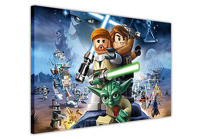 £9.99 • Buy Star Wars Pop Art Lego Canvas Wall Art / Prints / Pictures Iconic Movie Posters
