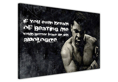 Canvas Prints Muhammad Ali Boxing Pictures Wall Art Photo Famous Quote Apologize • 9.99£