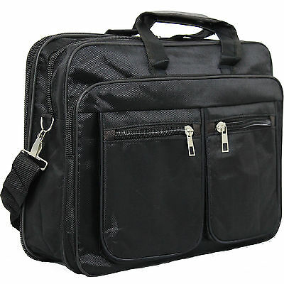 15.6 Inch Laptop Bag Case With Shoulder Strap & Handle & Zip & Extra Pockets • 14.99£