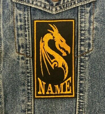 Personalised Dragon Name Patch Sew On Buy 5 Pay For 4!! • 3.65£