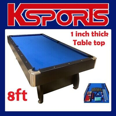 AU848 • Buy Pool Table  Pub Size 8ft Snooker Billiard Table With Table Tennis Top - Blue / B