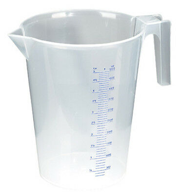 AU35.98 • Buy ACCURATE & EASY TO READ Measuring Jug Translucent 5 Litre - POURING SPOUT STURDY