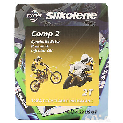 Silkolene Comp 2 2T 2 Stroke Motorcycle Engine Oil 4 Litres 4L • 38.95£