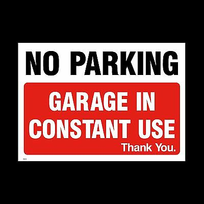 No Parking Garage In Use Sign, Sticker - All Sizes & Materials - (MISC6) • 1.44£