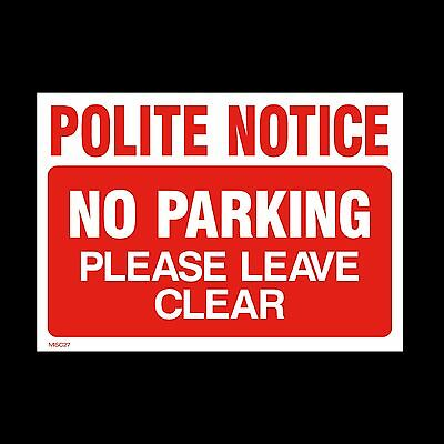 No Parking Keep Clear Private Sign, Sticker - All Sizes & Materials (MISC27) • 0.99£