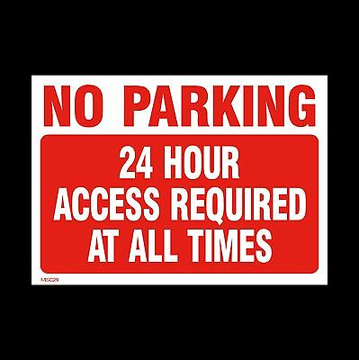 No Parking 24 Hour Access Sign, Sticker, Metal - All Sizes & Materials (MISC29) • 1.59£