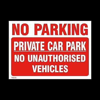 No Parking Private Car Park Sign, Sticker - All Sizes & Materials (MISC30) • 1.77£