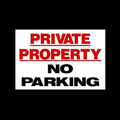 £1.57 • Buy No Parking Private Property Sign, Sticker, - All Sizes & Materials (MISC40)