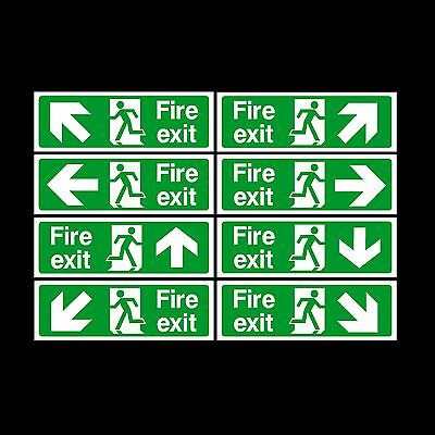 Fire Exit Sign, Sticker - All Sizes & Materials - Emergency, Escape, Fire Drill • 1.27£