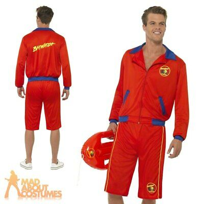£29.49 • Buy Baywatch Beach Mens Lifeguard 80s 90s TV Fancy Dress Costume Stag Party