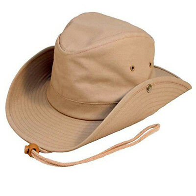 £11.95 • Buy Australian Outback Bush Hat With Chin Cord  Studs. 3 Colours FREE  Fast Post