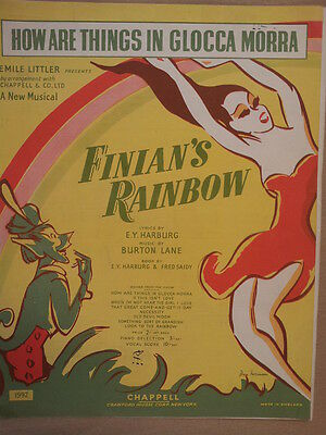 Song Sheet HOW ARE THINGS IN GLOCCA MORRA, Finians Rainbow 1946 • 9£