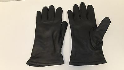 $17.99 • Buy Unisex Military Style Gloves, Black, Leather, Polyester Wool Lined 50/50, Size 9