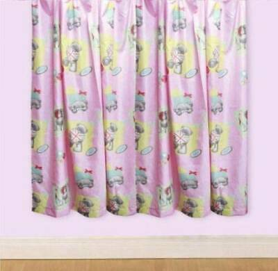 £19.99 • Buy Me To You Bear Tatty Teddy Vintage Curtains With Union Jack Hearts  66 X54
