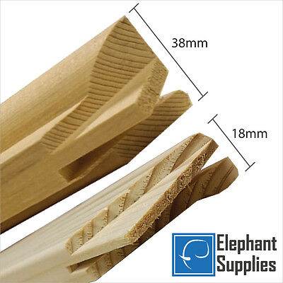 Canvas Stretcher Bars, Canvas Frames, Pine Wood 18mm & 38mm Thick - Sold By Pair • 1.89£