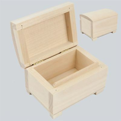 Unpainted Wooden Small Chest / Box For Jewellery / Art Craft Decoupage GIFT BOX • 6.49£